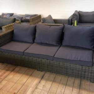 Exotan 'Rimini' 3-zits loungebank DARK GREY